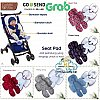 Seatpad cuddle me alas stroller bouncher carseat